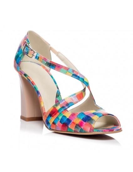 Sandale piele naturala Moni Picasso - Orice culoare