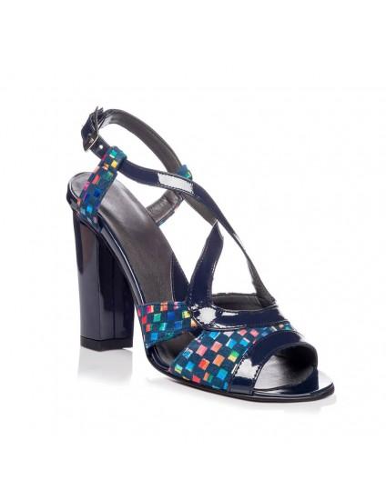 Sandale piele naturala Lore Mozaic - Orice culoare