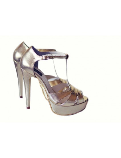 Sandale  Dama Piele Naturala Argintiu - disponibile pe orice culoare