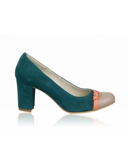 Pantofi dama piele verde P3  - orice culoare