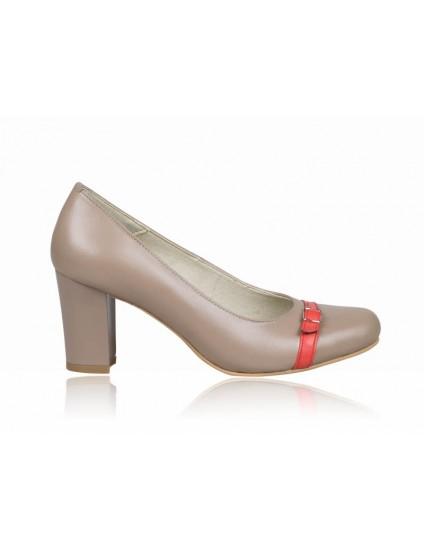 Pantofi dama piele capucino P3  - orice culoare