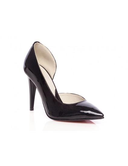Pantofi piele lacuita stiletto decupat P2 - orice  culoare