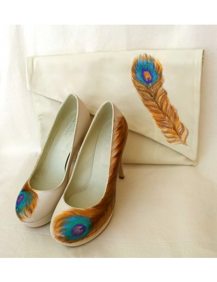 Pantofi Lindi  piele naturala pictati manual 1.4
