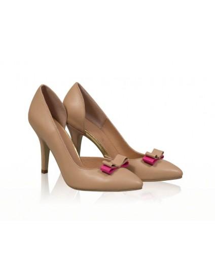 Pantofi piele stiletto decupat N7 - orice  culoare