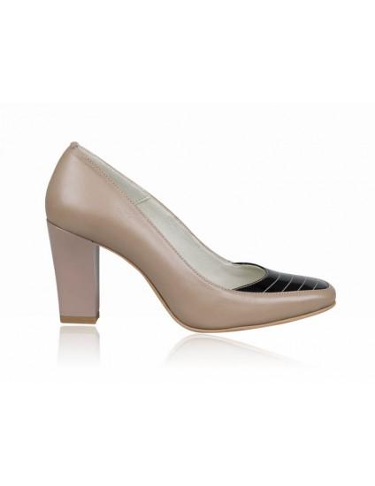 Pantofi dama piele office capucino P5 - orice culoare