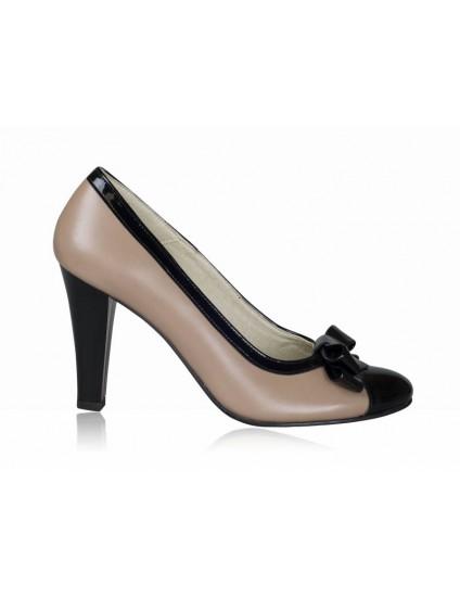 Pantofi dama piele P6 cu funda - orice culoare