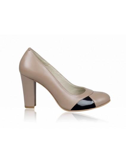 Pantofi dama piele office capucino P8 - orice  culoare