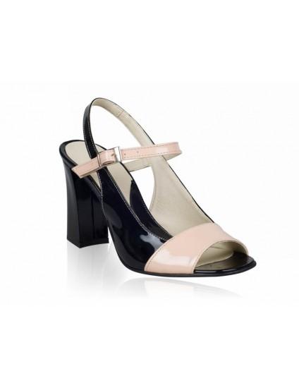 Sandale cu toc piele naturala Rimi - orice culoare