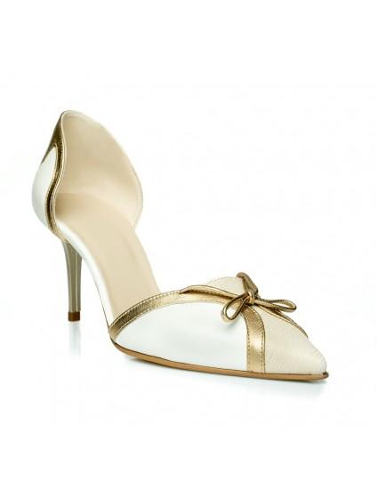 Pantofi Stiletto Style Fundita alb C24