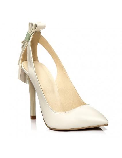 Pantofi Stiletto Ria C15 Crem  - orice culoare