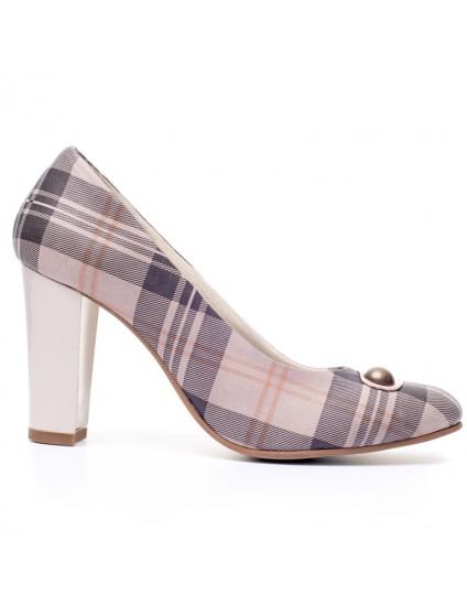 Pantofi dama piele Carouri V15 - orice culoare
