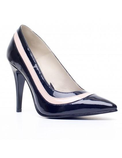 Pantofi Stiletto Piele Duo V9 Negru - orice culoare