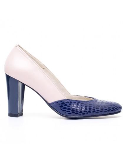 Pantofi dama piele Bleumarin V11 - orice  culoare