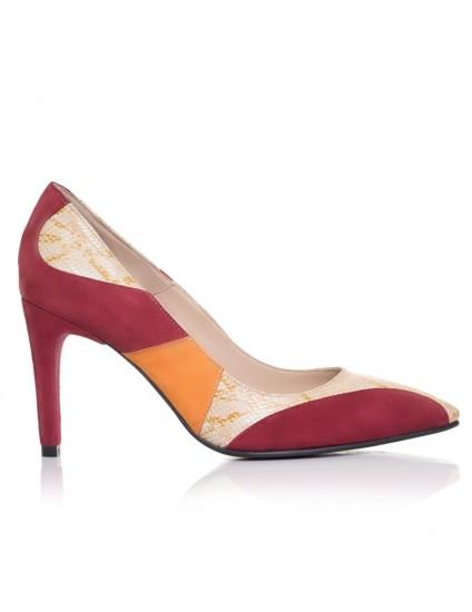 Pantofi Stiletto piele Color F6 - orice culoare