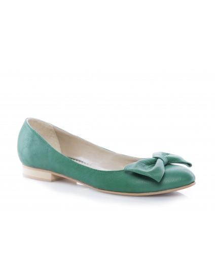 Balerini piele naturala Style verde - orice culoare