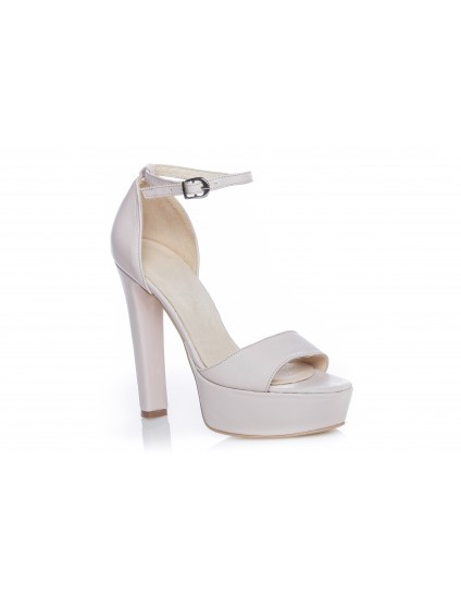 Sandale piele naturala Clara 2 crem - pe stoc