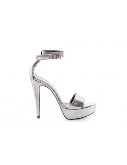 Sandale Piele Argintiu N4 - pe stoc