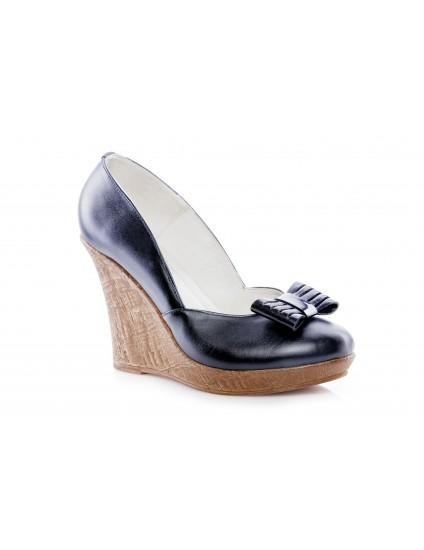 Pantofi piele cu platforma P3 - pe stoc