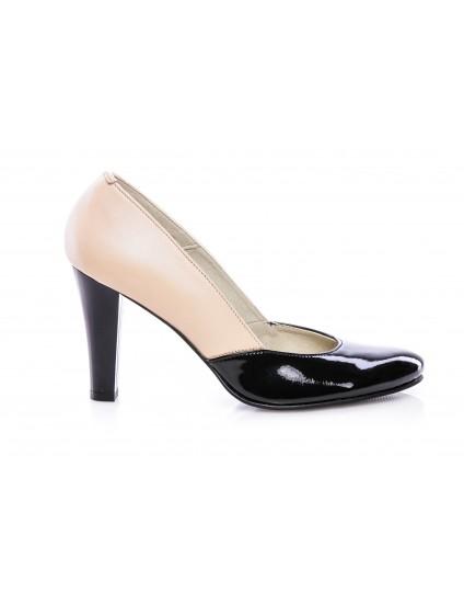 Pantofi dama piele V5 Crem - disponibili pe orice culoare