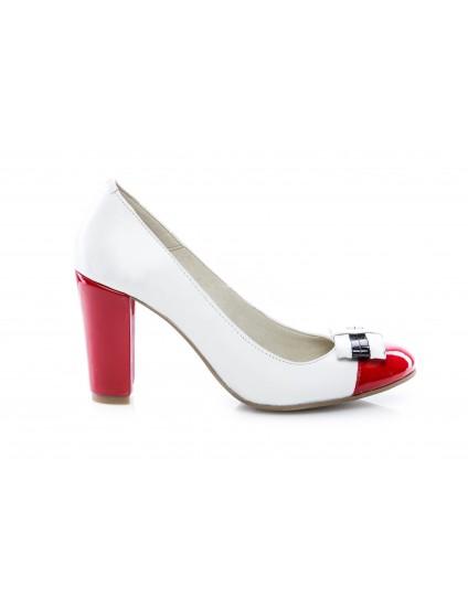 Pantofi dama piele V6 Rosu - disponibili pe orice culoare