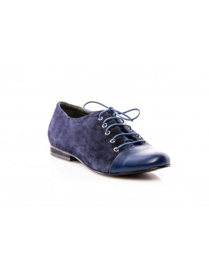 Pantofi Oxford 9 piele bleumarin - orice culoare