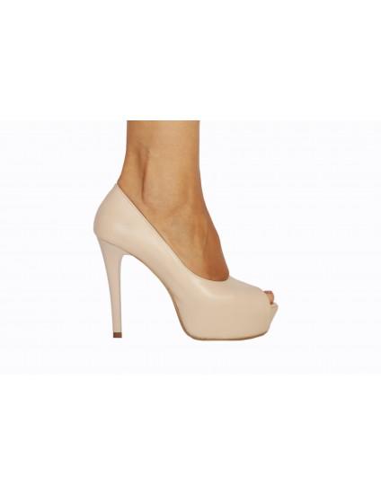 Pantofi Lori decupati piele naturala, orice culoare