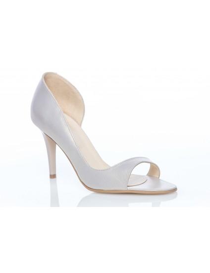 Pantofi Piele Mini Lara Decupat Ivory - orice culoare