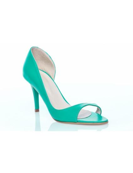 Pantofi Piele Mini Lara Decupat Turcoaz - orice culoare