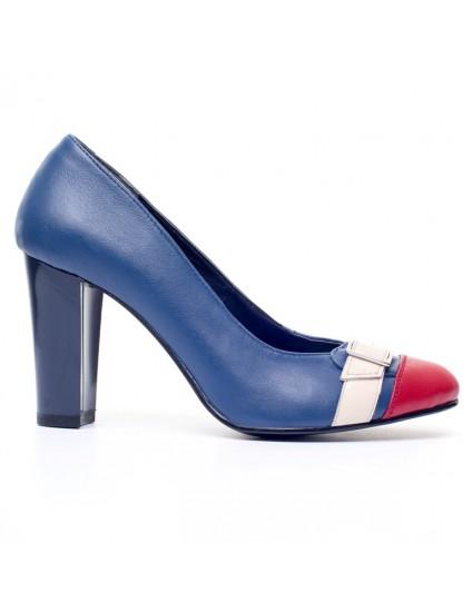 Pantofi Dama Office Mina Albastru V14 - orice  culoare