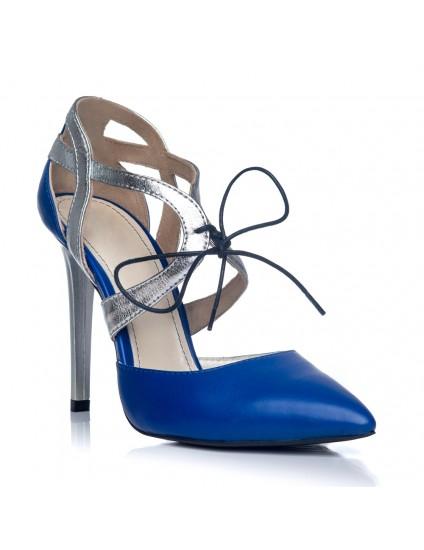 Pantofi Stiletto Diva Piele Albastru S1 - orice culoare