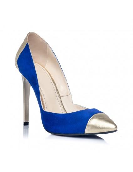 Pantofi Stiletto Albastru Electric S2 - orice culoare