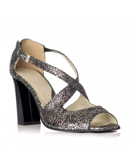 Sandale dama piele model Moni Argintiu - Orice culoare