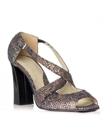 Sandale dama piele model Moni Auriu - Orice culoare