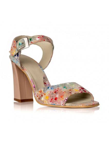 Sandale dama piele Multicolor Bej Yasmin V8 - Orice culoare