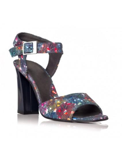 Sandale dama piele Multicolor Albastru Yasmin V8 - pe stoc