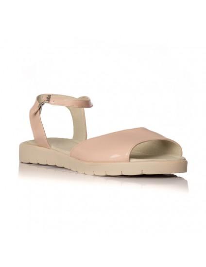 Sandale dama piele lacuita nude Mara V2 - orice culoare