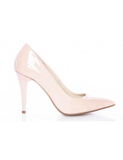 Pantofi Mini Stiletto Piele Lacuita Nude