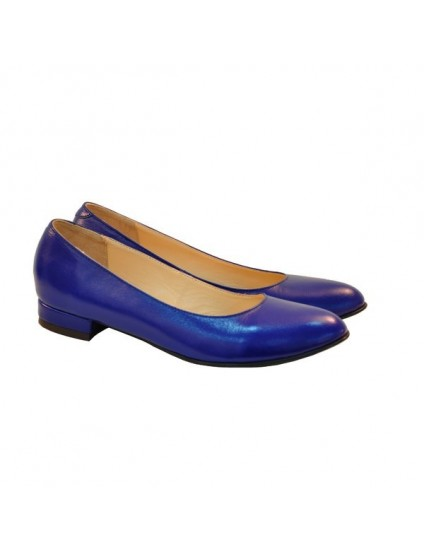 Balerini piele naturala albastru electric - orice culoare