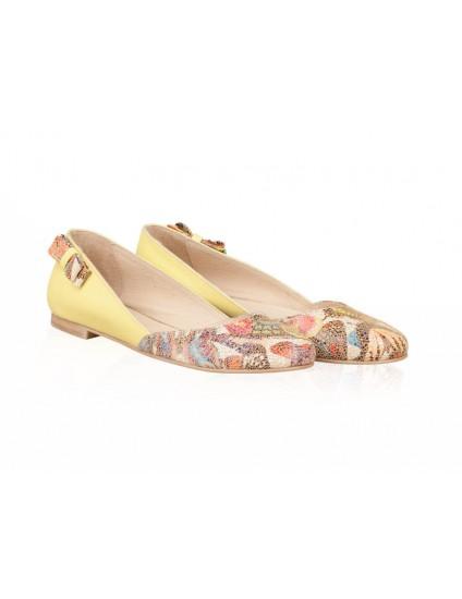 Balerini piele galben Butterfly N12 - orice culoare