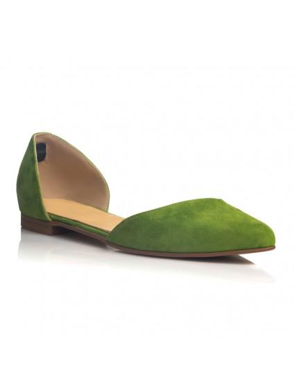 Balerini Piele Verde Carmi C4 - orice culoare