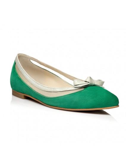 Balerini piele verde C2 - orice culoare