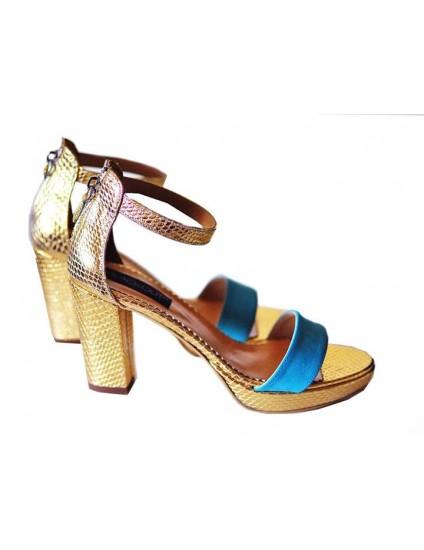 Sandale din Piele Naturala Stylish cu Platforma