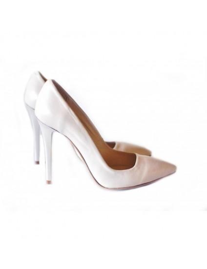 Pantofi Stiletto Very Chic BOX ALB - pe stoc