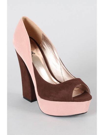 Pantofi decupati Hon, blush