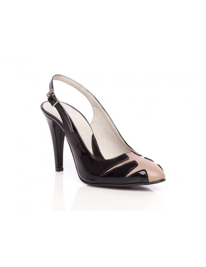 Pantofi piele Elegant Combi Decupat3 - orice culoare