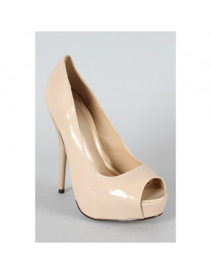 Pantofi Lori decupati nude - pe stoc