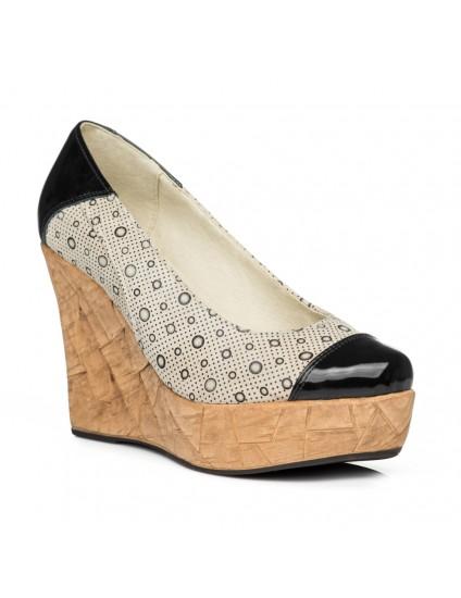 Pantofi piele cu platforma Eva Model V2 - pe stoc