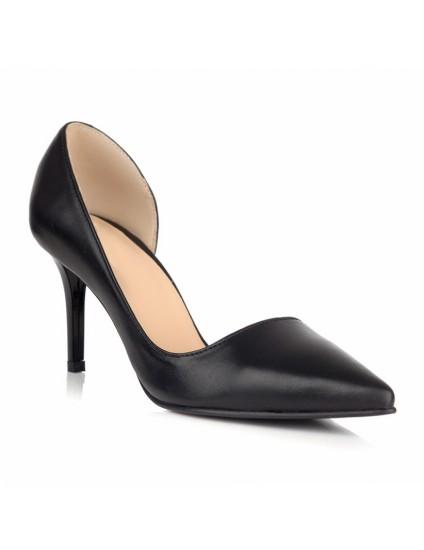 Pantofi Stiletto Piele Caramiziu Imprimeu C39 - orice culoare