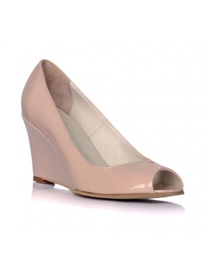 Pantofi piele cu platforma ortopedica Nude I2 - pe stoc