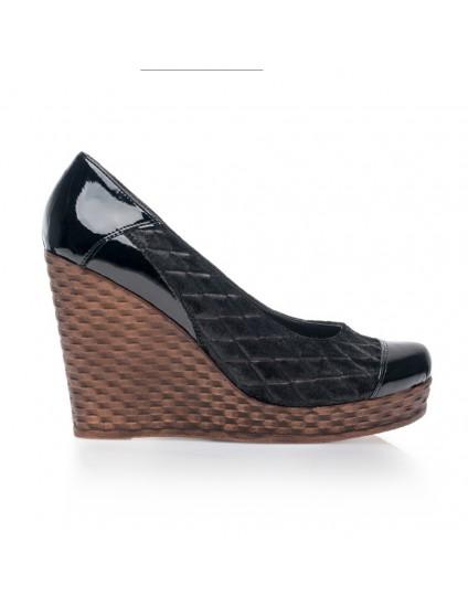 Pantofi piele cu platforma Eva Negru V1 - orice culoare
